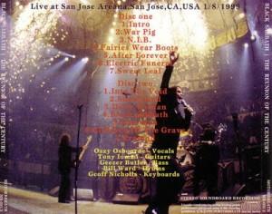 Black Sabbath Reunion of the Century San jose 1999 Back
