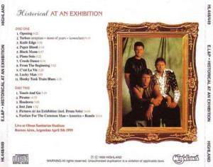 ELP Historical At An Exhibition Argentina 93 Back