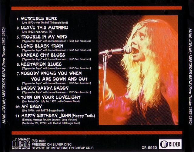 janis joplin mercedes benz rare tracks 1962 1970 1cd. Cars Review. Best American Auto & Cars Review
