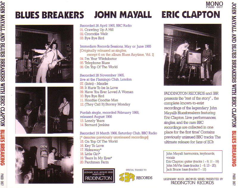 John Mayall And Blues Breakers With Eric Clapton Blues