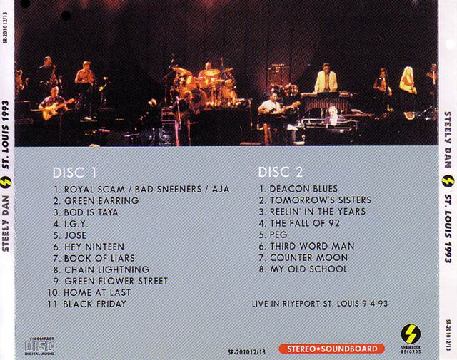 Steely Dan St Louis 1993 2cd Giginjapan