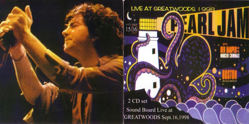 Pearl Jam / Live At Greatwoods 1998 / 2CD – GiGinJapan