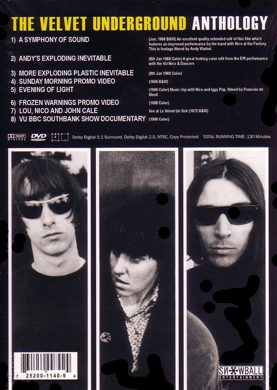 Madison Square Garden: Velvet Underground / Anthology / 1DVDR Digipak