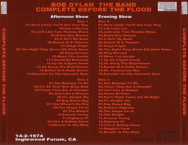 Bob Dylan Band Before The Flood