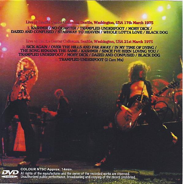 Led Zeppelin / Seattle 1975 / 1 DVDR – GiGinJapan