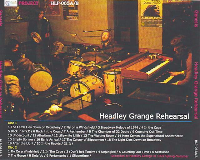 Genesis Headley Grange Rehearsal 2cdr