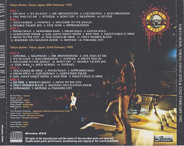 Guns N Roses / Distortion Of The Senses / 6CDR – GiGinJapan