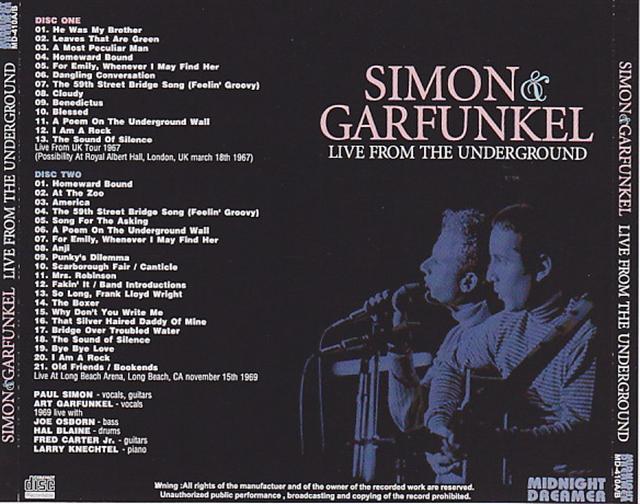 Simon & Garfunkel / Live From The Underground / 2CDR