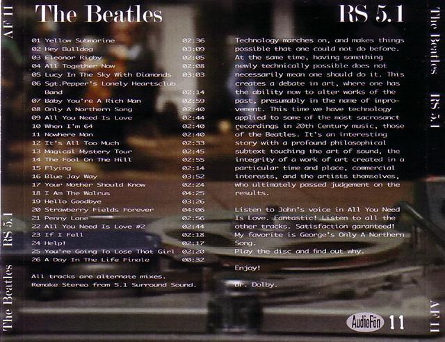 Madison Square Garden: Beatles / RS 5.1/1CD