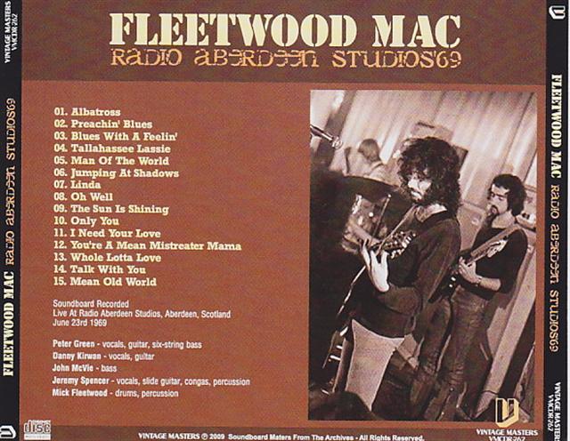 Fleetwood Mac / Radio Aberdeen Studios 69 / 1CDR