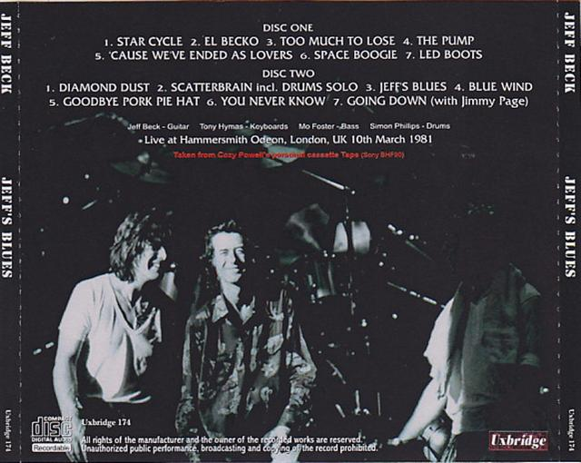 Madison Square Garden: Jeff Beck / Jeffs Blues / 2CDR