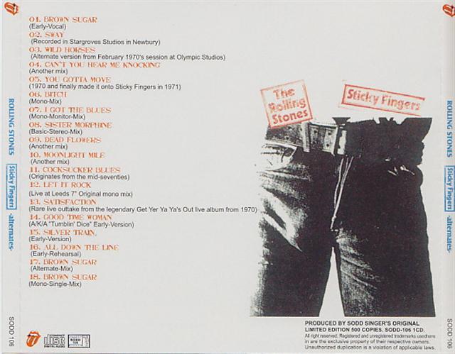 Rolling Stones Sticky Fingers Alternates 1cd Giginjapan