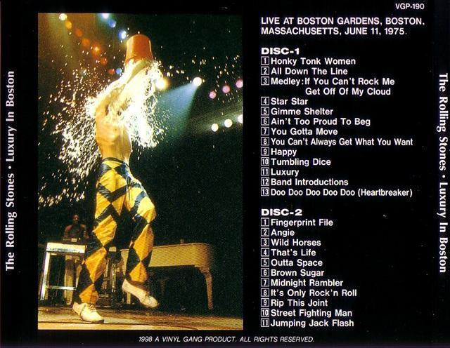 Rolling Stones Luxury In Boston 2cd Giginjapan