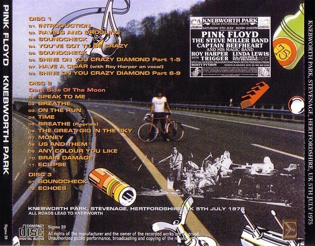 Pink Floyd Knebworth Park 3cd Giginjapan