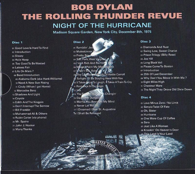 Bob Dylan & The Rolling Thunder Revue / Night Of The