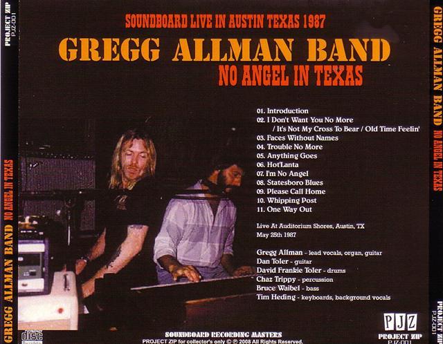 Gregg Allman Band No Angel In Texas 1cdr Giginjapan