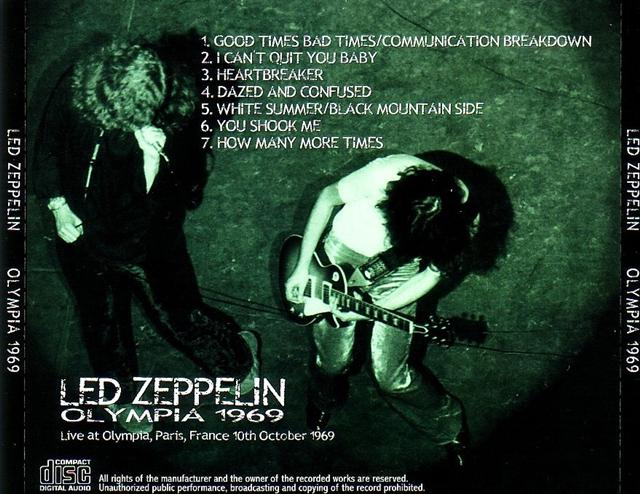 Led Zeppelin / Olympia 1969 / 1CD