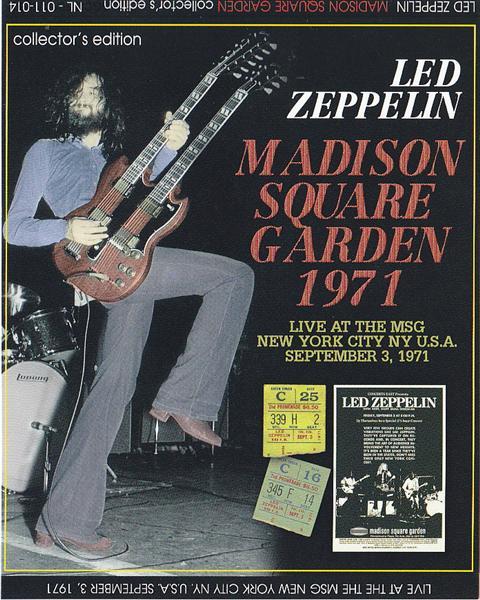 Led zeppelin 1971 original concert ticket stub madison square garden nyc ebay for Led zeppelin madison square garden