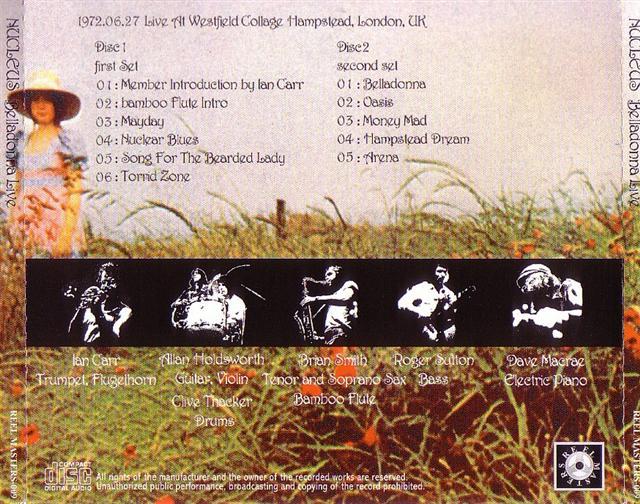 Madison Square Garden: Nucleus / Belladonna Live / 2CD