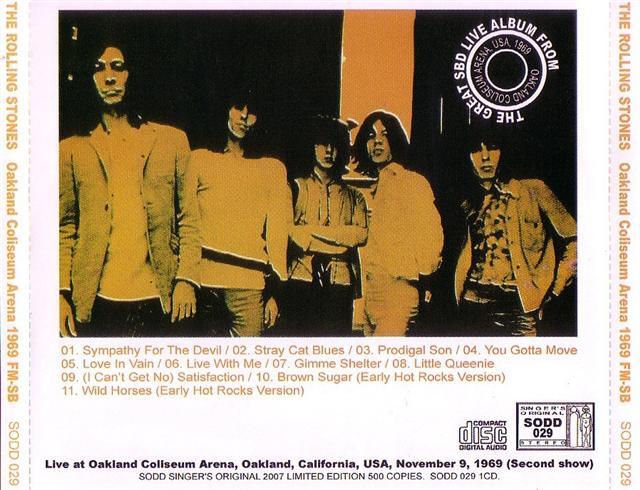 Rolling Stones / Oakland Coliseum Arena 1969 FM-SB / 1CD