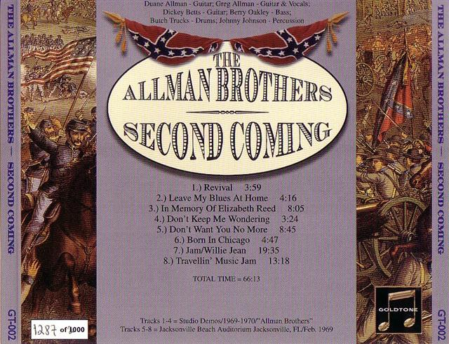 Madison Square Garden: Allman Brothers / Second Coming / 1CD