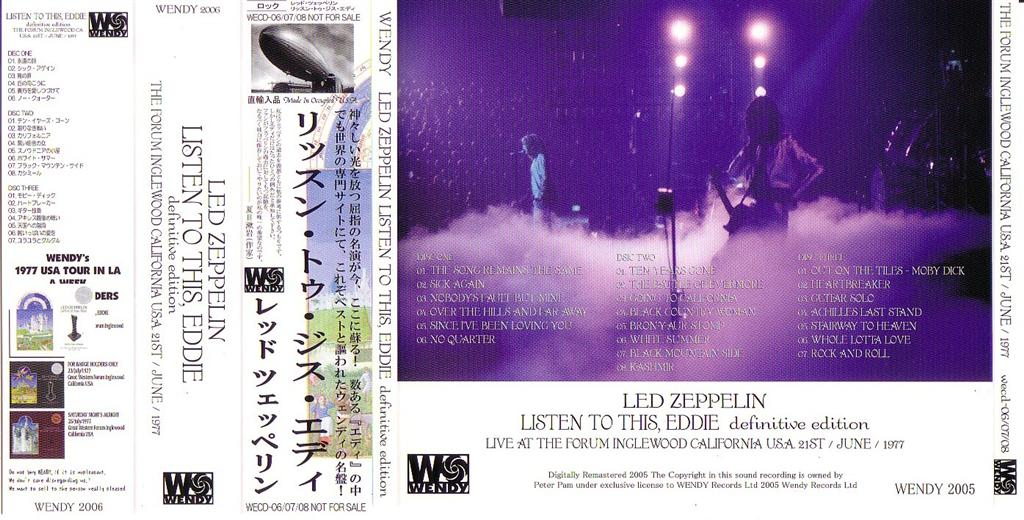 Led zeppelin listen to this eddie 3cd obi strip
