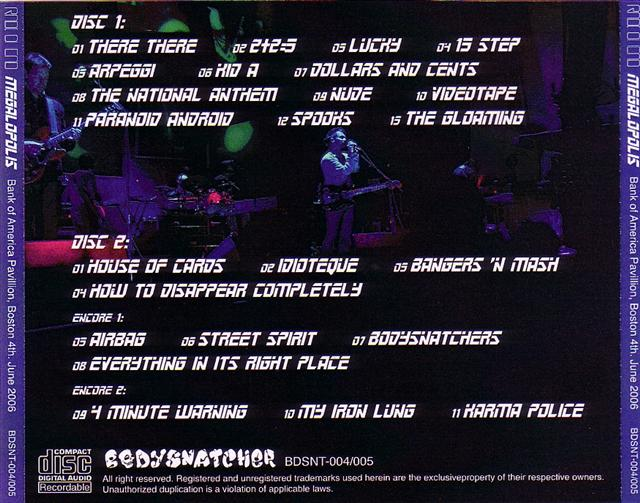 Radiohead / Megalopolis /2CDR