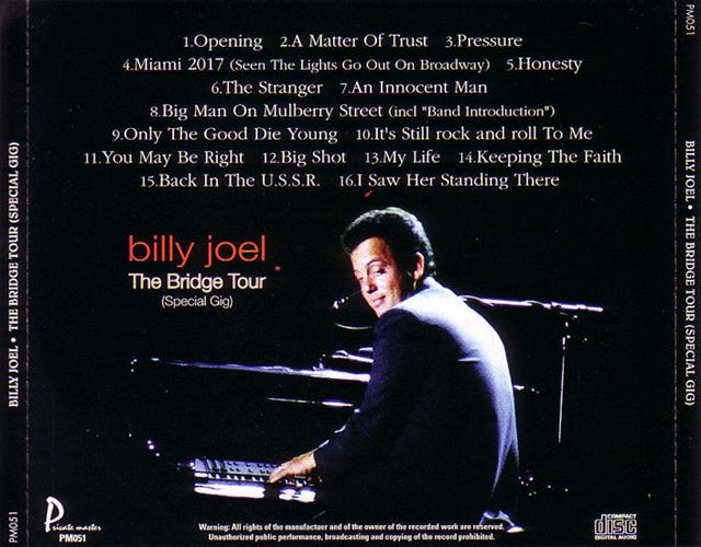 Billy Joel / The Bridge Tour Special GIG / 1CD – GiGinJapan