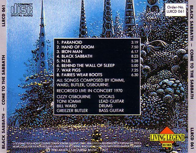 Black Sabbath / Come To The Sabbath / 1CD