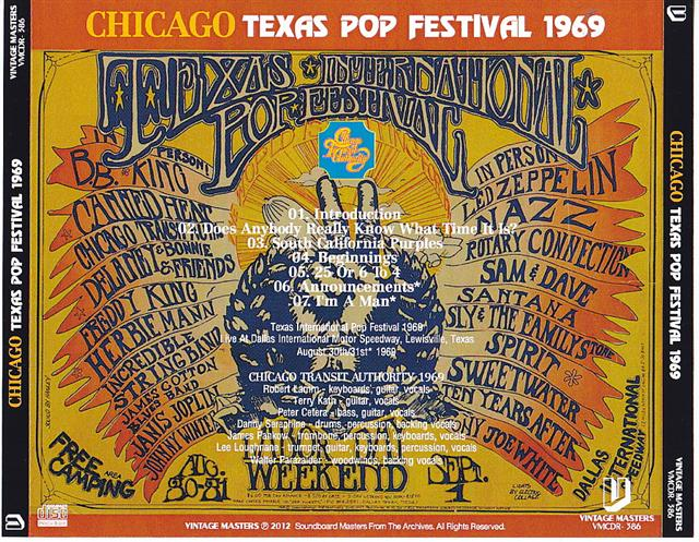 Chicago / Texas Pop Festival 1969 / 1CDR
