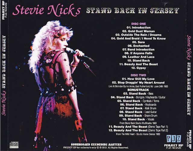 Stevie Nicks Stand Back In Jersey 2cdr Giginjapan