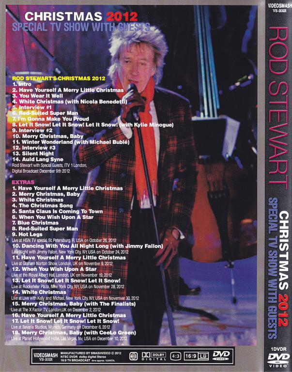 Rod Stewart Christmas 2012 Special Tv Show With Guests 1dvdr