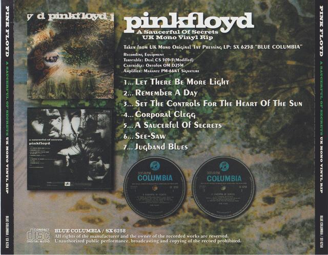 Pink Floyd A Saucerful Of Secrets Uk Mono Vinyl Rip