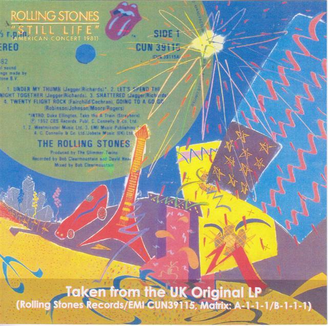 Rolling Stones Still Life American Concert 1981 1 CDR GiGinJapan