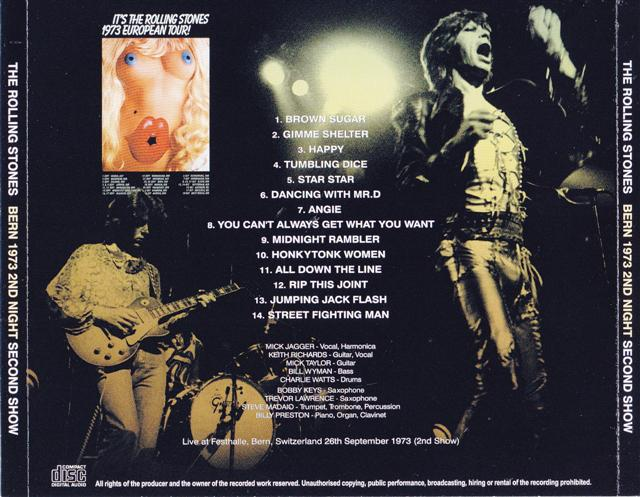 Rolling Stones / Bern 1973 2nd Night Second Show / 1CD
