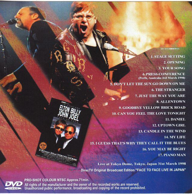 """Billy Joel Elton John Face to Face cd Elton John And Billy Joel of """""""