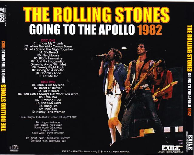 Rolling Stones Going To Apollo 1982 2cdr Giginjapan
