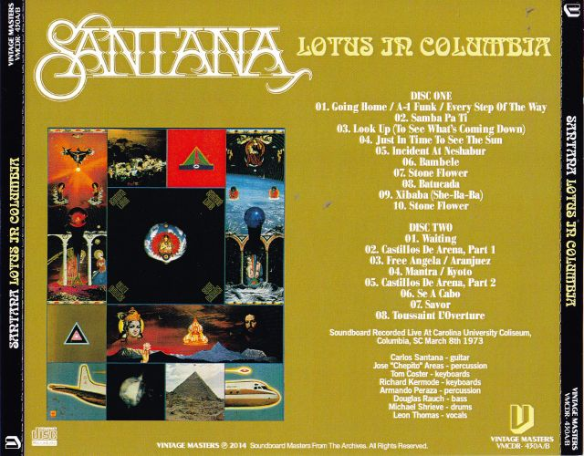 Santana Lotus In Columbia 2cdr Giginjapan