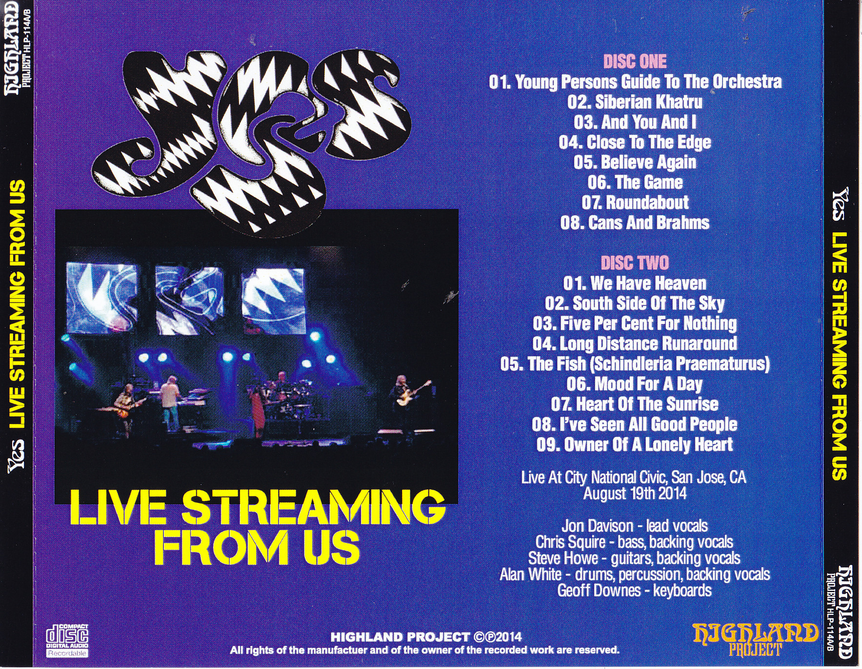 Yes Live Stream : yes live streaming from us 2cdr giginjapan ~ Vivirlamusica.com Haus und Dekorationen