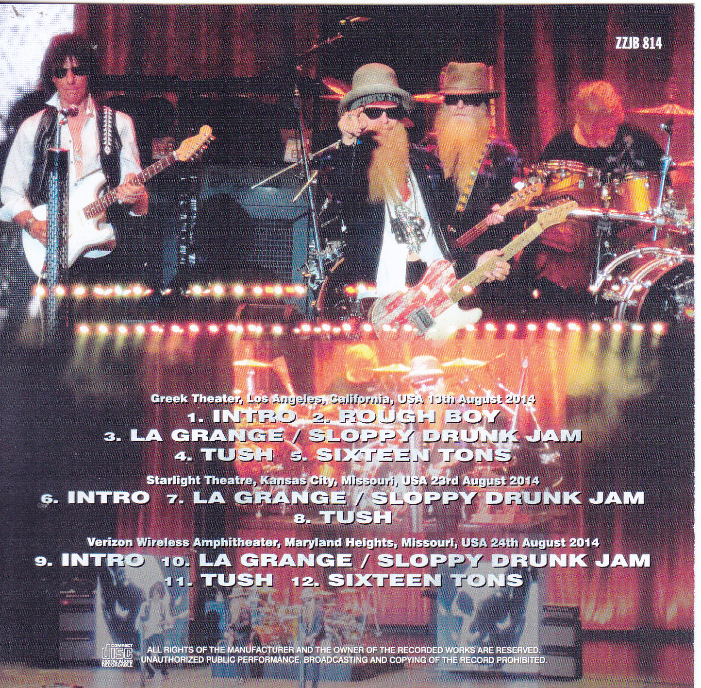 Zz Com: ZZ Top With Jeff Beck / Live Encores 2014 / 1CDR