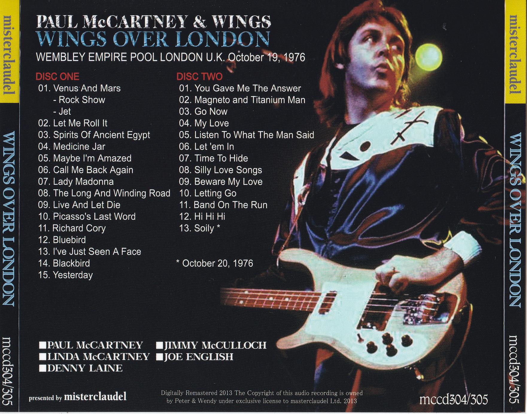Paul McCartney & Wings / Wings Over London 1976 / 2CD WX OBI