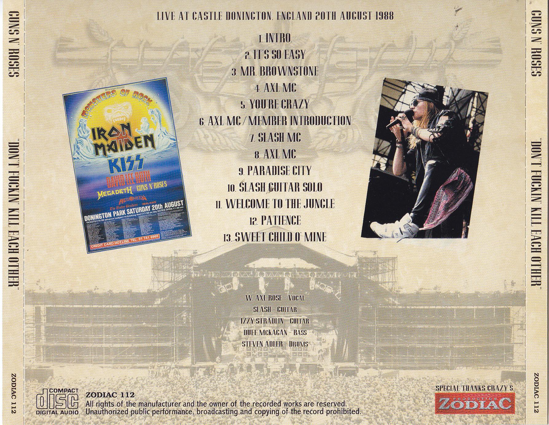 Guns N Roses / Dont Fuckin Kill Each Other / 1CD – GiGinJapan