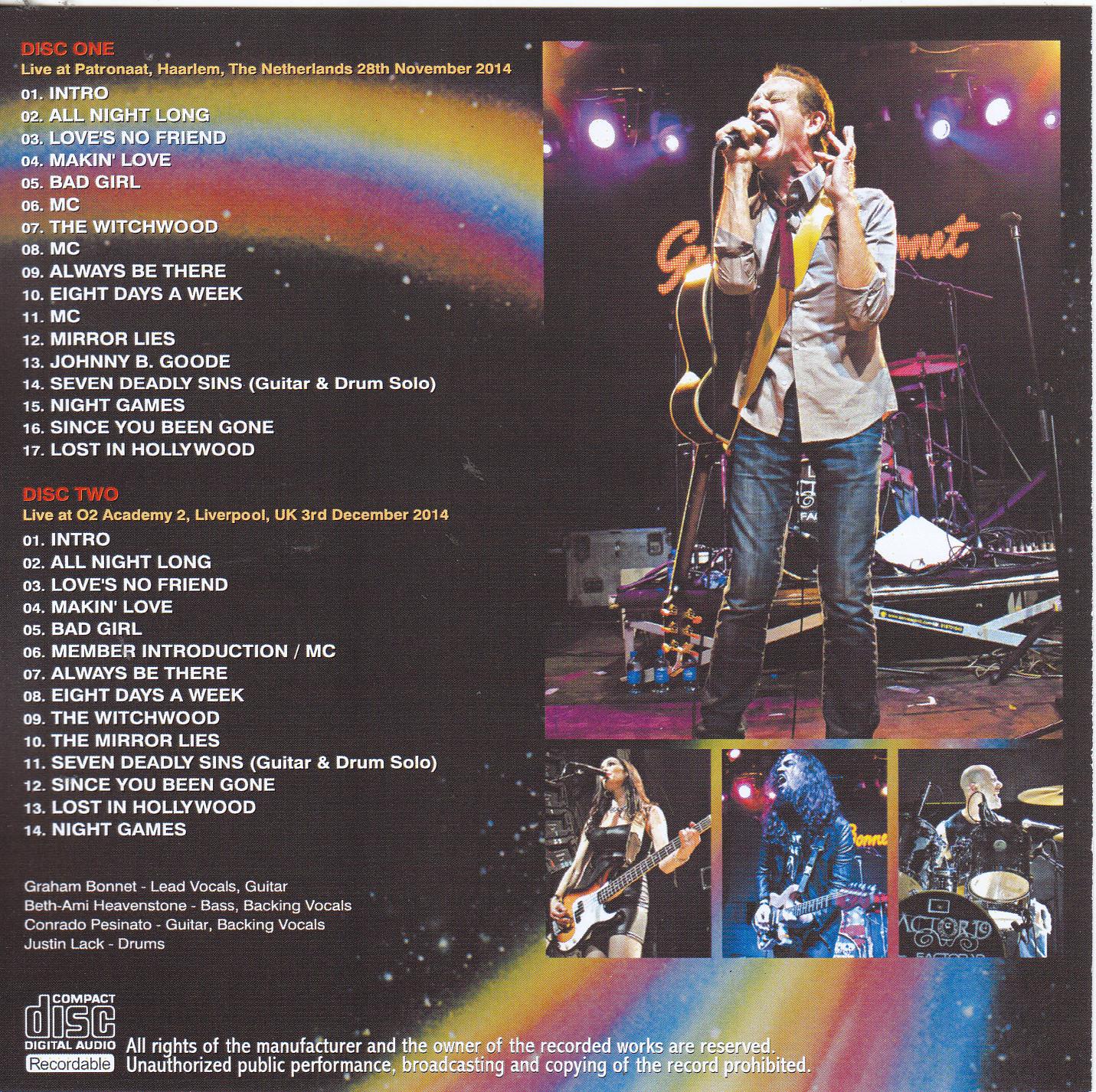 Graham Bonnet / Catch The Rainbow Tour 2014 Always Be