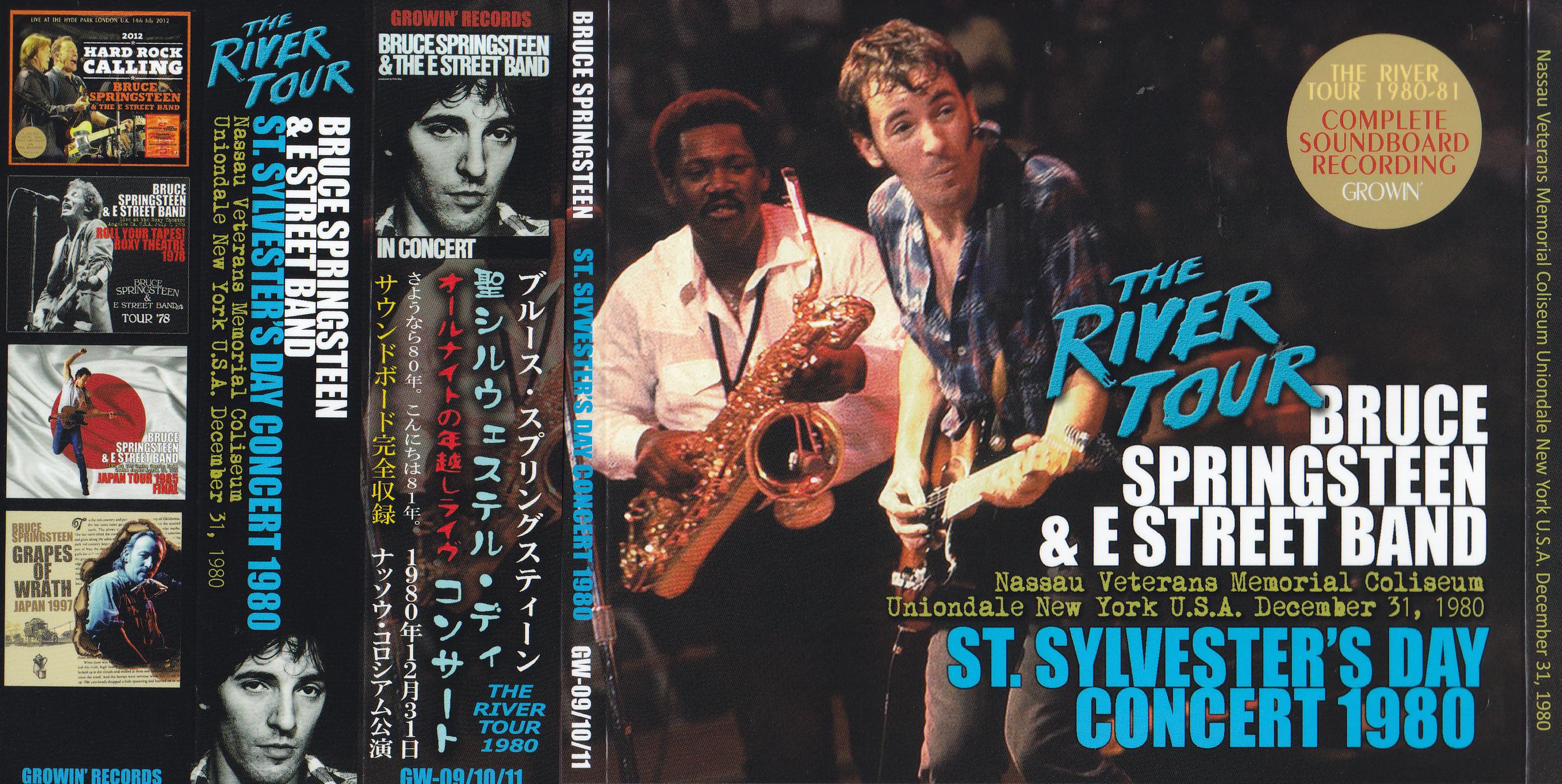 bruce springsteen    st sylvesters day concert 1980    3cd wx obi strip  u2013 giginjapan