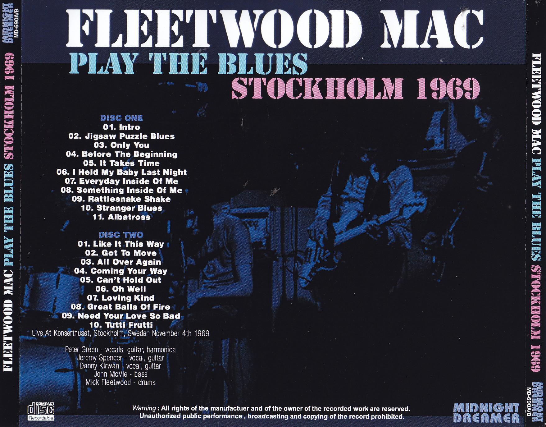 Fleetwood Mac Play The Blues Stockholm 1969 2cdr
