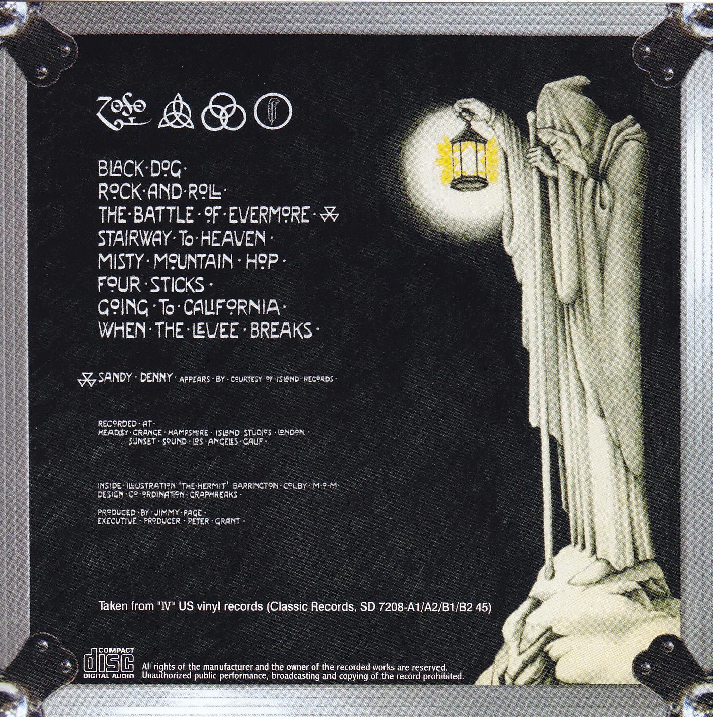 Led Zeppelin Iv Originals Us Reel To Reel 1cd 1bonus