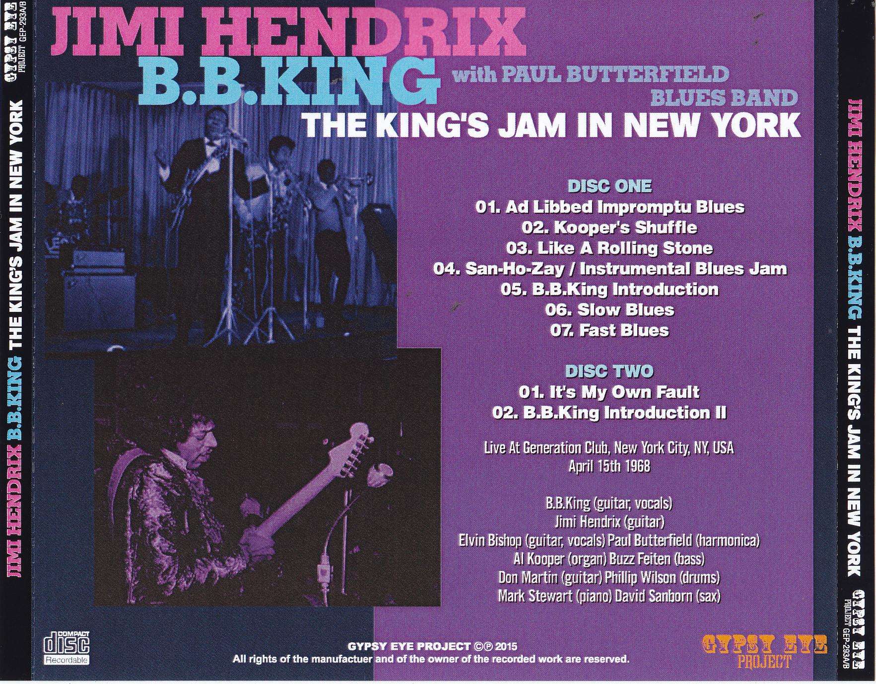 Jimi Hendrix & BB King / The Kings Jam In New York / 2CDR – GiGinJapan
