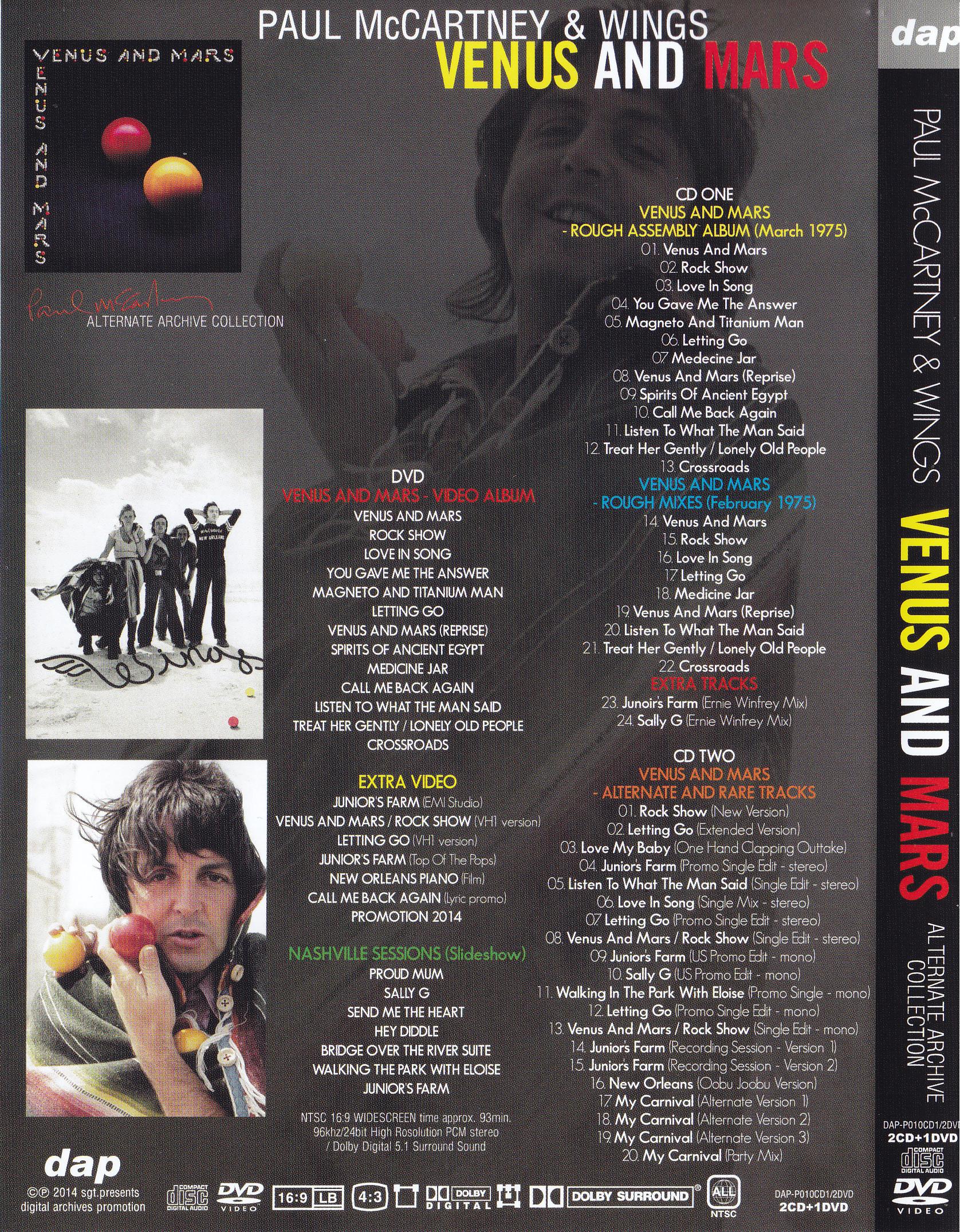 Paul McCartney & Wings / Venus And Mars Alternate Archive