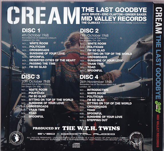 Cream / The Last Goodbye / 4CD Box Set With OBI Strip