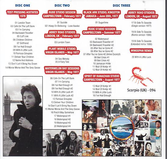 Paul McCartney & Wings / London Town Sessions / 3CD Foldup